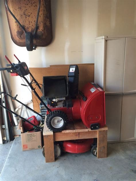 Garage Storage For Lawn Mower The Quot Mower Blower Stacker Quot A Way To Save Some