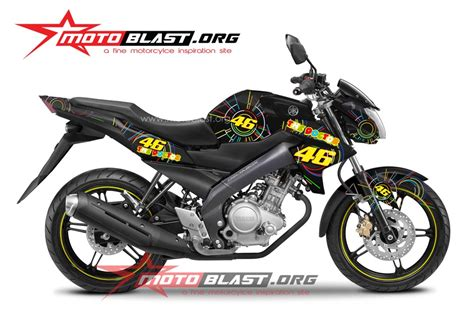 Di Yamaha Vixion 2014 Black modif striping new vixion black 2014 valentino sun