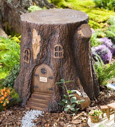 Whimsical Garden Tree Stump Stool by Garden Tree Stump Stool Is For Fairies And