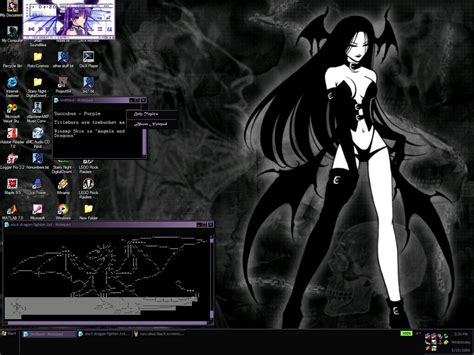pc themes deviantart gothic morrigan desktop theme by akanoonichan on deviantart