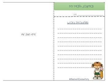 math journal template math journal template by basics of elementary teachers