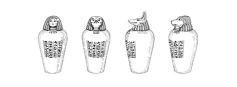 i vasi canopi 4 tutte le anime della mummia per i piu piccoli 4