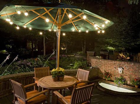 patio lighting ideas   summery outdoor space