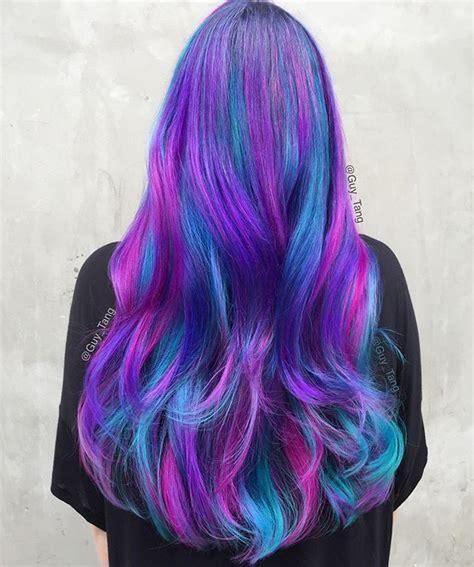 la galaxy colors best 25 galaxy hair ideas on galaxy hair