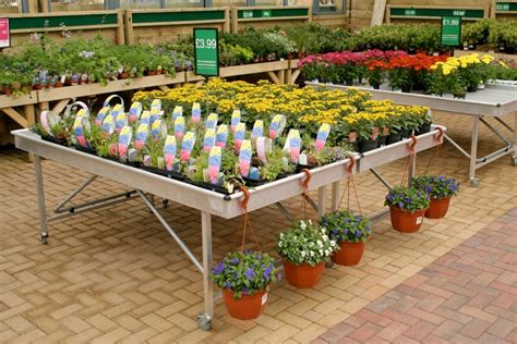 garden centre display benches applications benching co uk