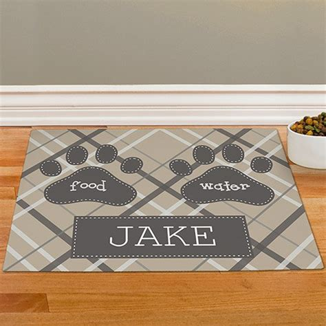 Personalized Food Mat by Personalized Plaid Pet Food Mat Gifts For You Now