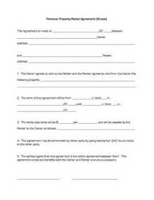 doc 600730 simple rental agreement 13 simple rental