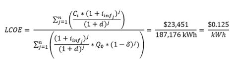 electricity cost formula levelized cost of electricity pveducation