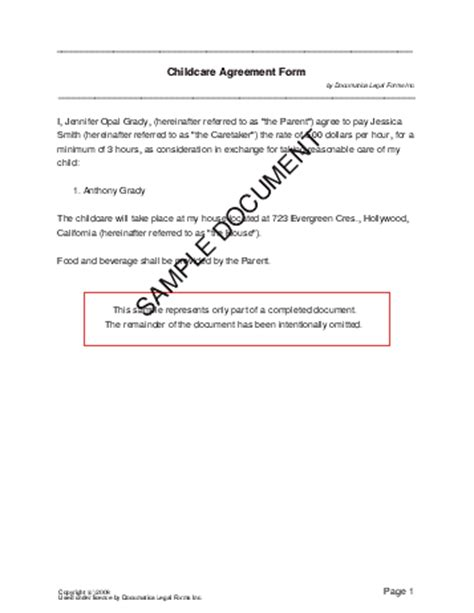 Child Support Agreement Letter Between Parents Child Support Agreement Form Free Printable Documents