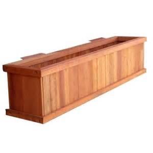best redwood 24 quot x 4 quot board window planter box walmart