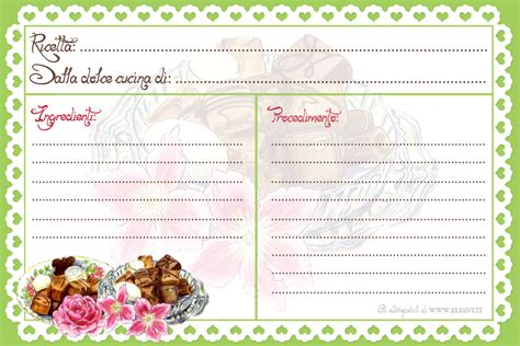 ricettario cucina ricettario per dolci recipe card stabile da casa