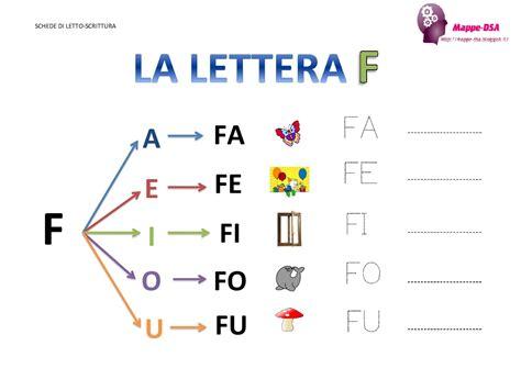 lettere fi la lettera quot f quot e le sue sillabe