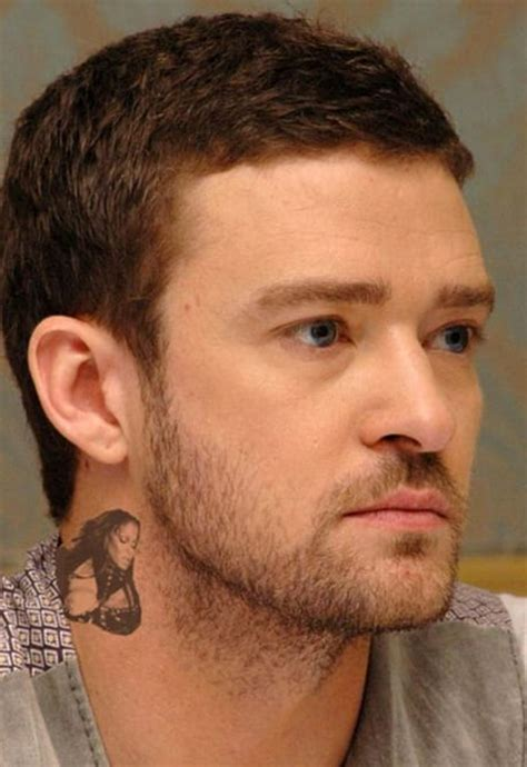 justin timberlake tattoo removed chris brown neck memes best of faux