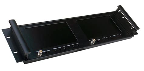 Rack Mount Monitors by 19 Inch Dual Rack Mount Monitor With Loop Through
