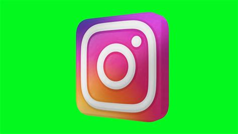 instagram  logo green screen animated  youtube