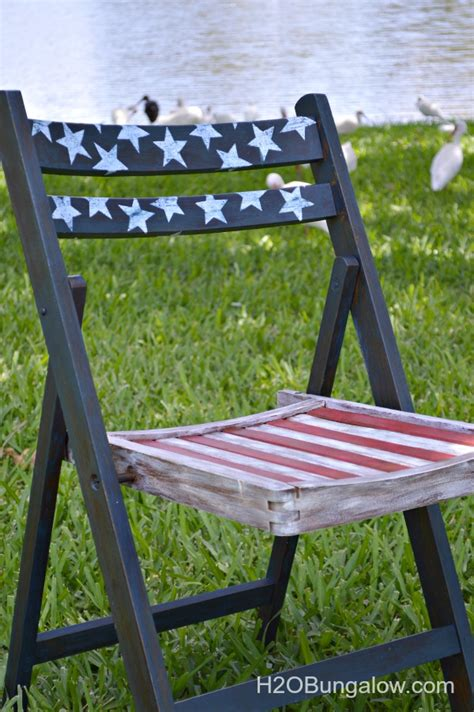 Decoupage For Outdoors - americana decoupage chairs