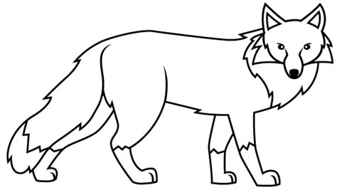 imagenes para dibujar de zorros el zorro para colorear imagui