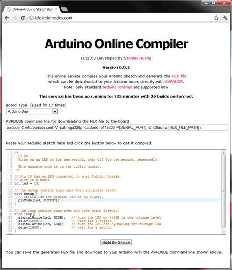 tutorial online compiler arduino web server seotoolnet com