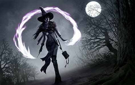 libro night magic gothic 壁紙 ゴシックファンタジー 魔術 夜 月 帽子 ファンタジー ダウンロード 写真