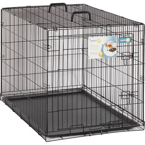 walmart kennel aspen pet wire home kennel 43 quot w x 28 quot d x 31 quot h walmart