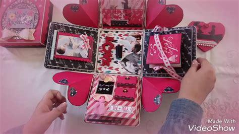 Diy  Ee  Gift Ee   Handmade Explosion Box Anniversary Theme Youtube