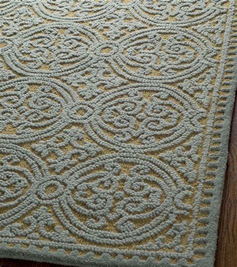 Blue And Gold Area Rugs Rugstudio Presents Safavieh Cambridge Cam234a Blue Gold Tufted Better Quality Area Rug