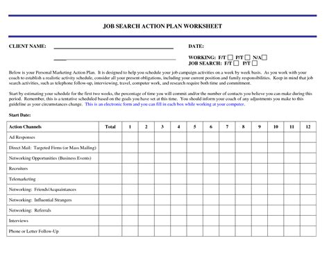 28 job planner template weekly job search review