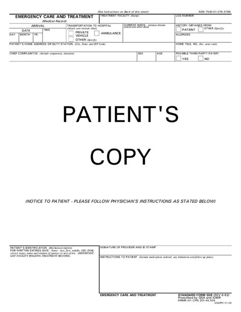Emergency Room Release Form Template treatment release form free printable documents