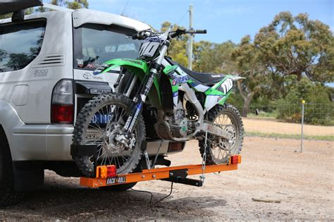 motocross bike carrier rack n roll bike carrier australasian dirt bike magazine