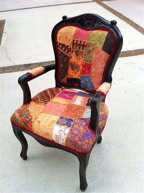 funky recliner chairs patchwork french accent chair upholstered in by