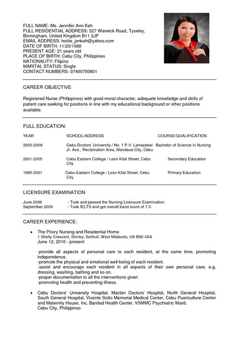 Resume For It by Resume Format Nursing It Resume Cover Letter Sle