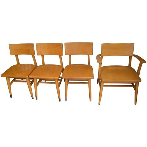 maple dining room chairs set of four dining chairs of rock maple from midcentury