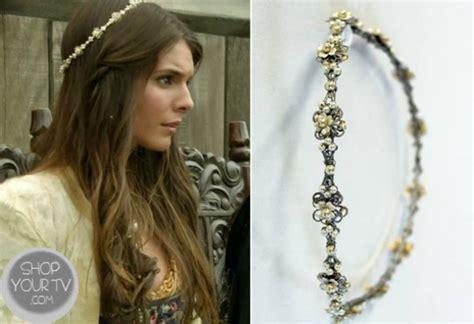 reign tv show hair beads jewels flower headband floral beaded hair accessory