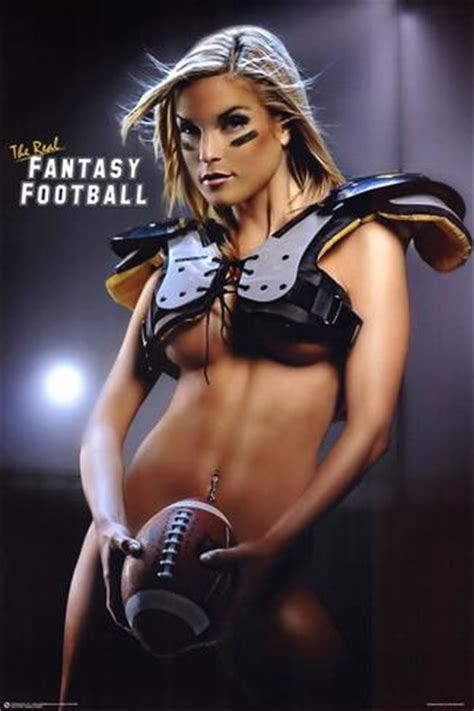 hot women posters fantasy football hot girl in pads sexy photo sports poster