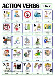 pictionary verb set 5 from t to z