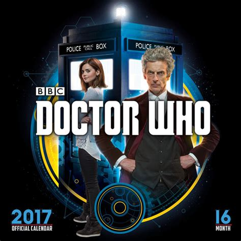 Calendã Doctor Who Doctor Who 2017 Square Wall Calendar Merchandise Guide