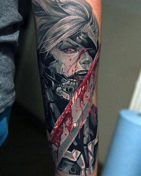 metal tattoo designs 50 metal gear designs for gaming ink ideas