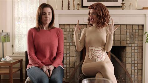 the redheaded girl from viberzi ad of the day meet irritabelle your irritable bowel