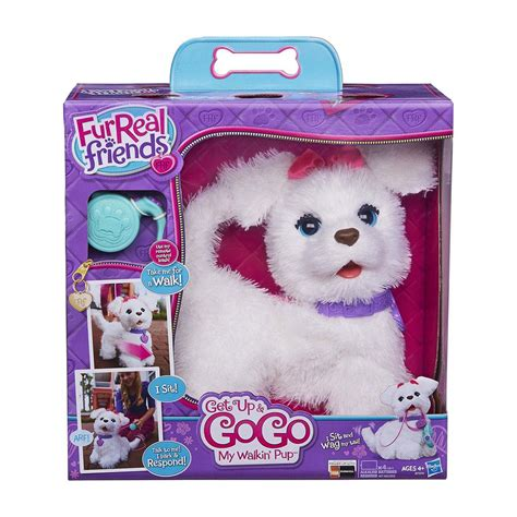 fur real pets furreal friends get up gogo my walkin pup pet toys