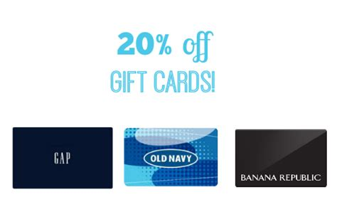 Can Gap Gift Cards Be Used At Old Navy - kroger ecoupon 20 off gap old navy gift cards southern savers