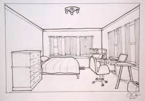 draw room layout homework one point perspective room drawing