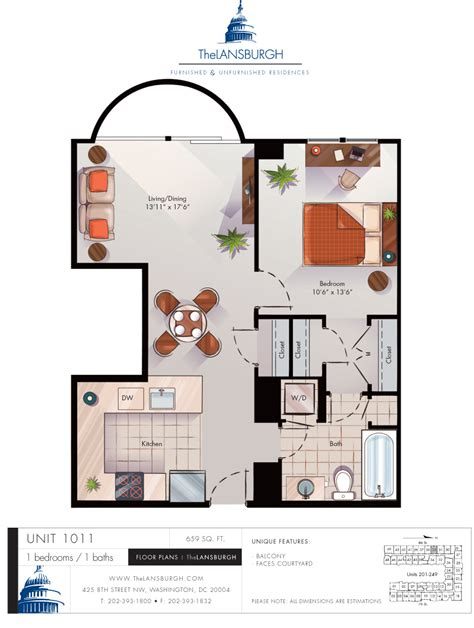floor plan with balcony floor plans the lansburgh
