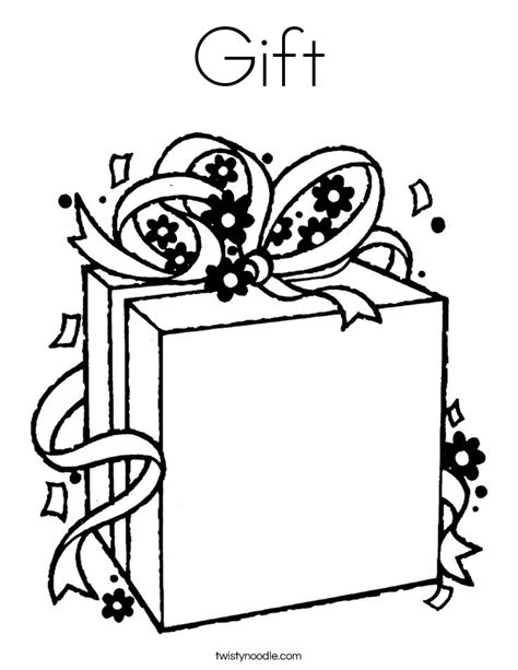 wrapped present coloring page gift coloring page twisty noodle