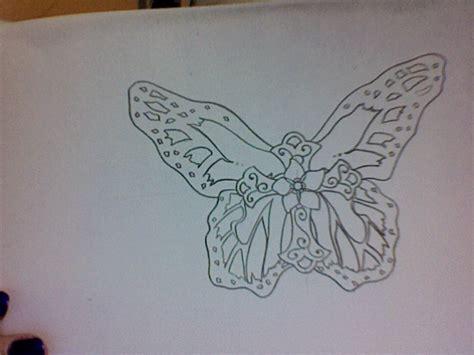 Butterfly Cross Tattoo 2 By Blackwidowtat2 On Deviantart Croos With Butterfly Tattoos