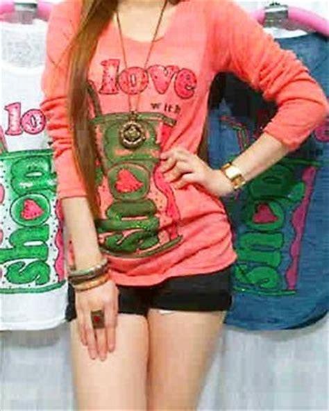 Celana Wanita Celana Jens Panjang Motif Hello 1 8 model baju kaos wanita terbaru 2014