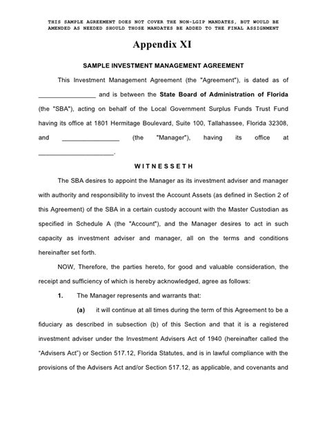 ria compliance manual template enhanced investment management agreement form