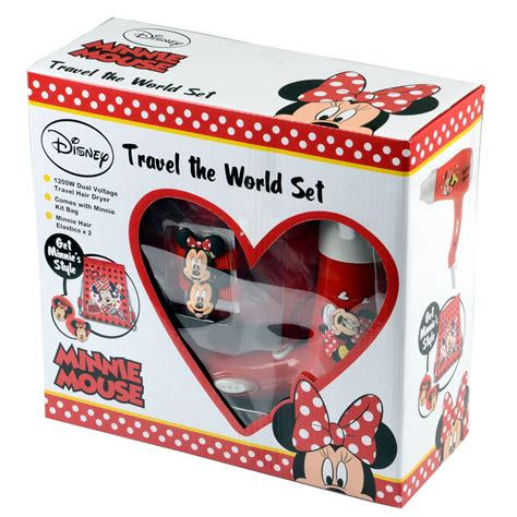 Minnie Mouse Hair Dryer Set disney minnie mouse travel hair dryer set