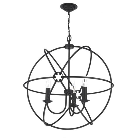 Orb Pendant Light Black Circular Orb Gyroscopic Ceiling Pendant Light For High Ceilings