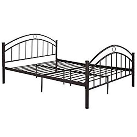 amazon metal bed frame amazon com giantex black queen size metal bed frame