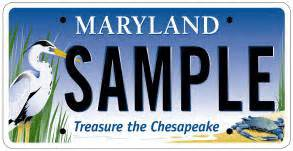 agricultural or chesapeake bay license plates